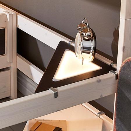 Lifetime hoekplank met LED licht zwart sfeer