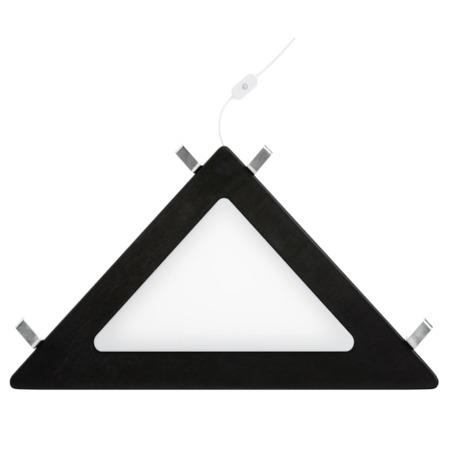 Lifetime hoekplank met LED licht zwart uit