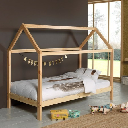 Vipack Dallas bed LP naturel sfeer