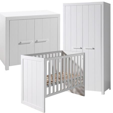 Vipack Erik 3-delige babykamer met 2-deurskast