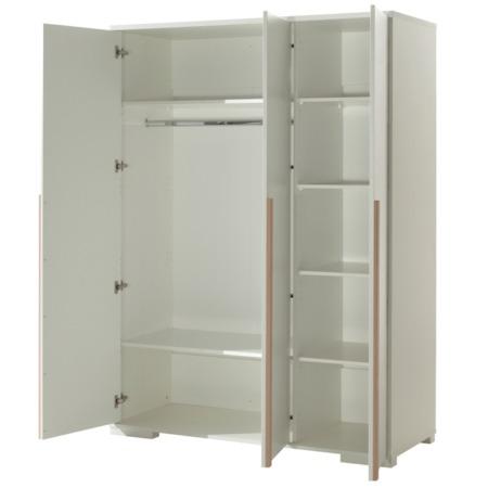 Vipack London 3-deurskast wit open