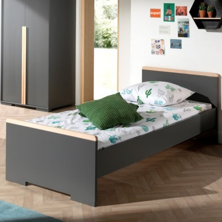 Vipack London bed antraciet sfeer
