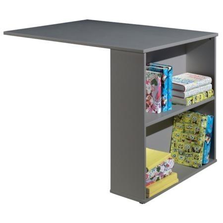 Vipack bureau voor halfhoogslaper grijs