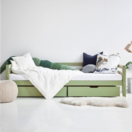 Hoppekids bed met laden Pale Green