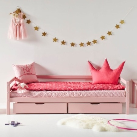 Hoppekids bed met laden Pale Rose