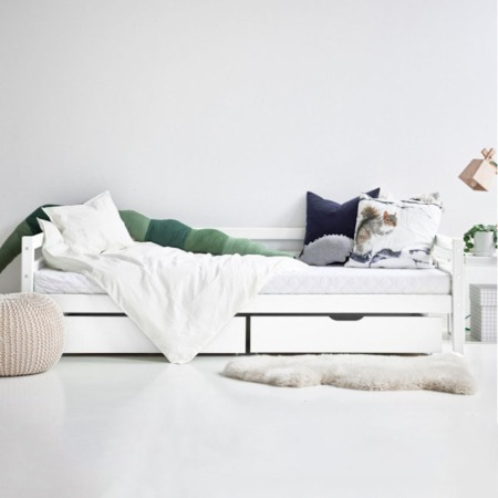 Hoppekids bed met laden White