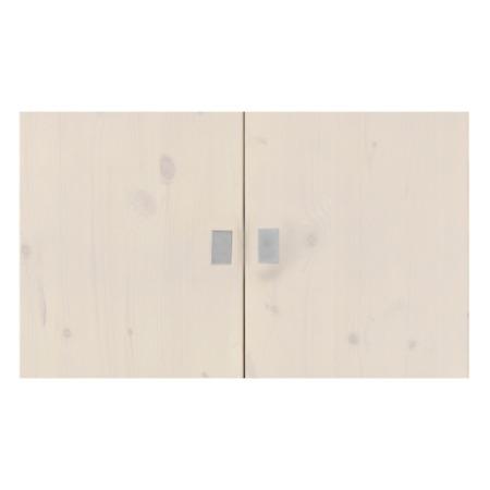 Lifetime set deurtjes boekenkast whitewash