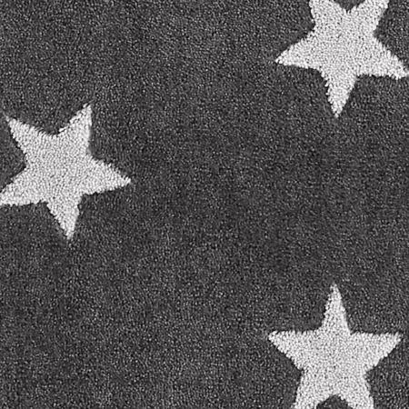 Lifetime vloerkleed Grey and Stars detail