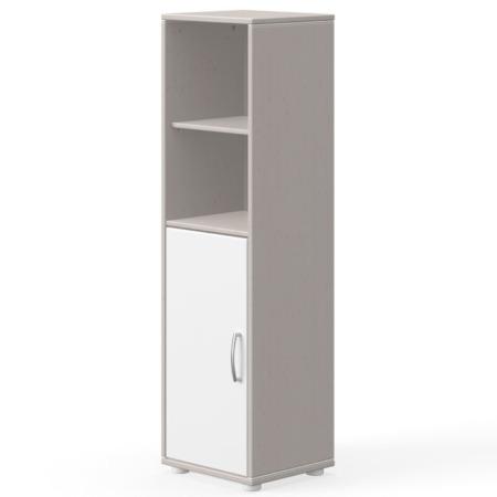 Flexa kast met deur en 2 planken greywash wit