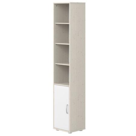 Flexa kast met deur en 3 planken whitewash wit