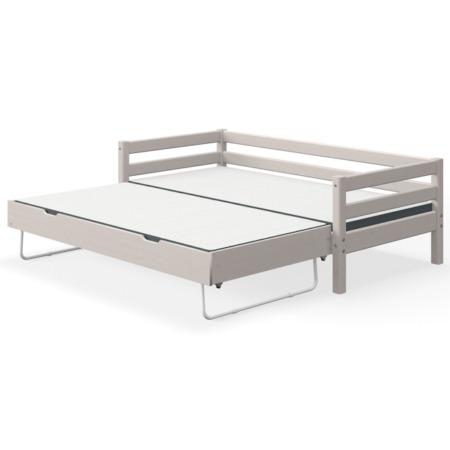 Flexa single bed grey met uitschuifbed