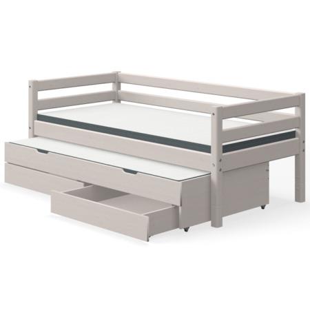 Flexa single bed grey uitschuifbed en lades1