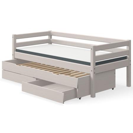 Flexa single bed grey uitschuifbed met lades