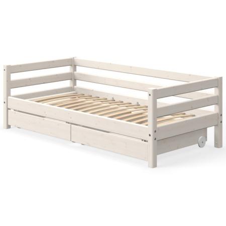 Flexa single bed whitewash met 2 lades