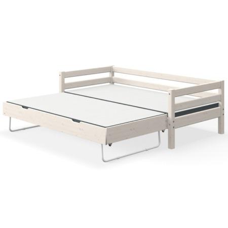 Flexa single bed whitewash met uitschuifbed