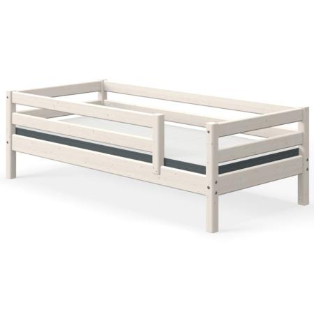 Flexa single bed whitewash met uitvalbeschermer