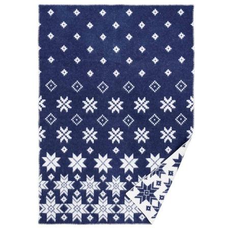 Klippan wollen deken Snowfall blue
