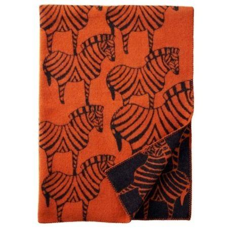 Klippan wollen deken Zebra Orange