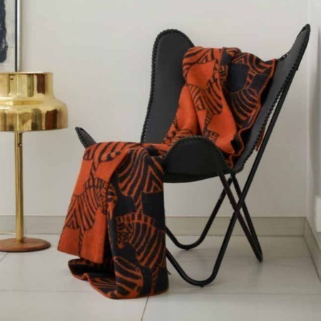 Klippan wollen deken Zebra Orange sfeer